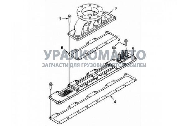 прокладка впускного коллектора 340/375 л.с. малая DONG FENG 3992090